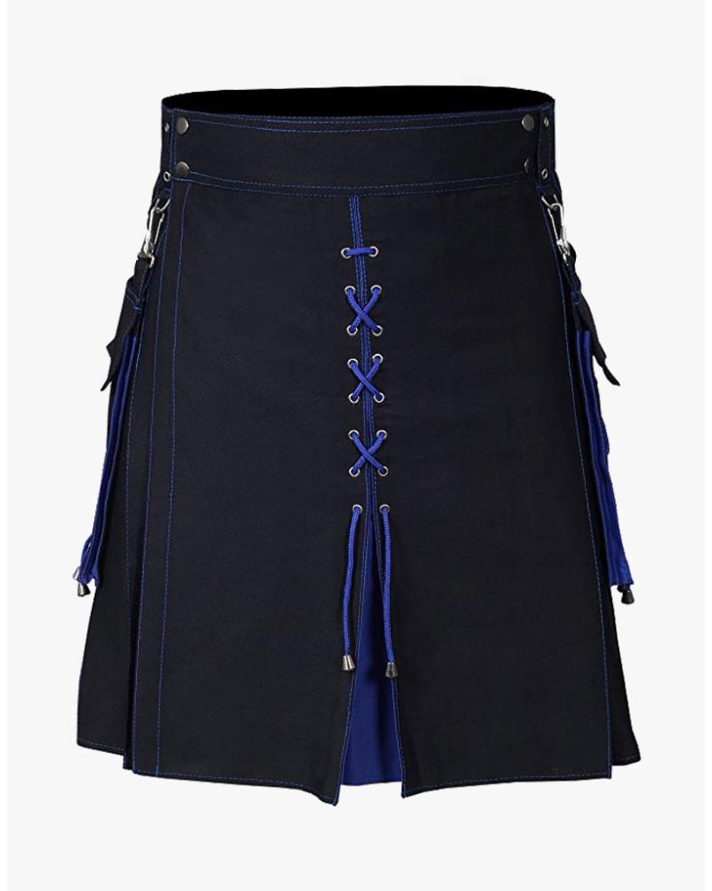Utility Kilt Hybrid Modern 100% Cotton Jeans Kilt New For Men's
