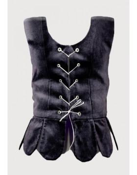 Black Plain Scottish National Waistcoat
