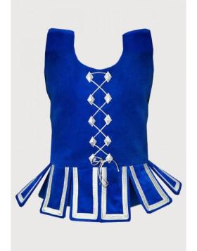Blue Scottish National Waistcoat