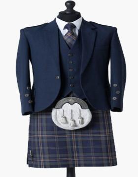 Arran Navy Tweed Outfit