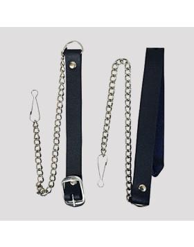 Black Hair Leather Sporran - Leather Sporran For Sale - Liberty Kilts