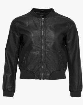 Biker Leather Jacket with Woolen Helm