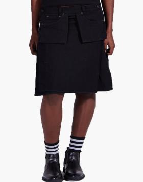 Unique Black Denim Kilt For Women