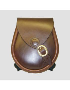 Scottish Brown Leather Sporran - Leather Sporran - Liberty Kilts