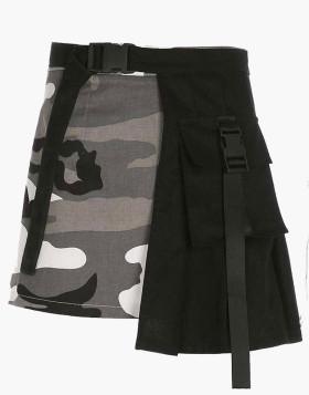 Camo Buckle Skirt