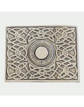 Celtic Chrome Belt Buckle