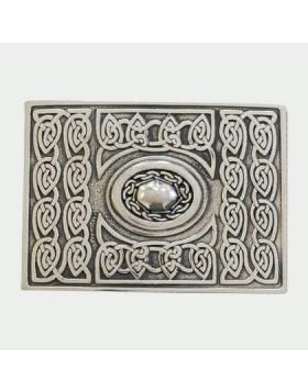 Celtic Chrome Kilt Belt Buckle