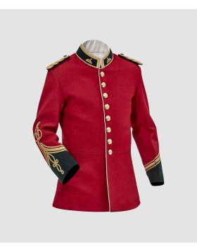 Classic British Army Tunic British War Jacket Civil War Jacket British War Jackets Online Red Wool Jacket Front - Liberty Kilts