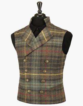 Gentleman's Regency Waistcoat (Hunting Stewart Tartan)