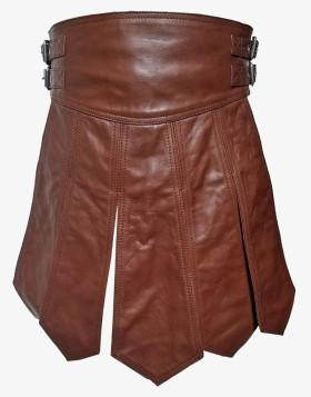 Genuine Leather Gladiator Kilt