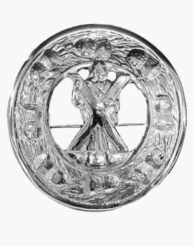 Kilt Plaid Brooch Crest Thistles Border Kilt Accessories