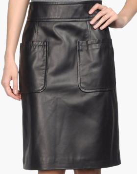 Knee-Length Straight Fit Skirt For Women