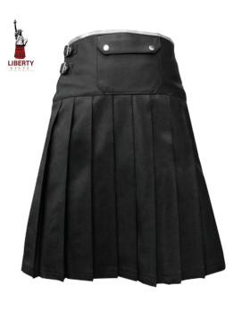 Liberty Leather Kilt With White Trim