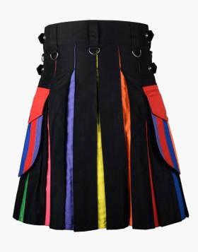 Liberty Pride Man Scottish Raimbo Hybrid Kilt