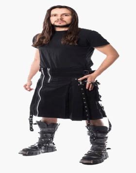 Liberty Chemical Black Kilt-Denim Kilt For Men-Liberty Kilts