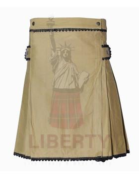 Liberty Khakhi Utility Kilt For Women