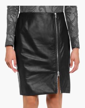Luxe Zip Leather Kilt