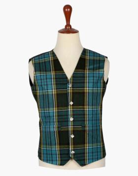 Man Scottish Anderson Tartan 5 Button Vest