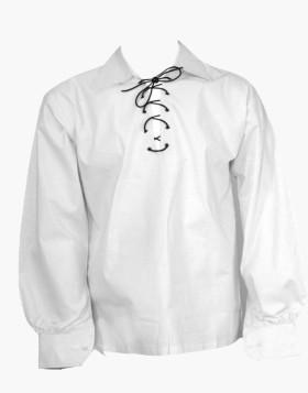 Man,s Scottish White Ghillie Kilt Shirt
