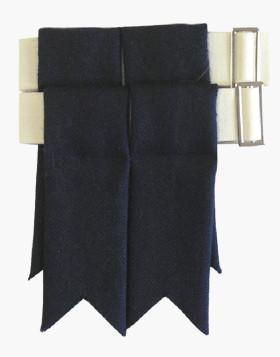 Modern Blue Garter Flashes