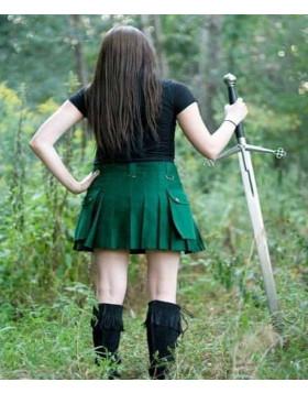 Modern Fashion Green Women Utility Kilt