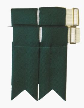 Modern Green Garter Flashes