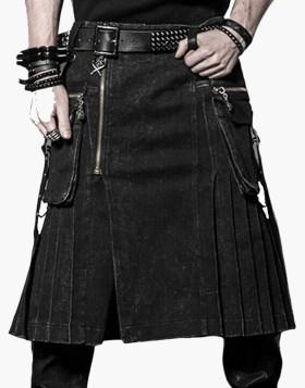 Punk Rave Denim Kilt