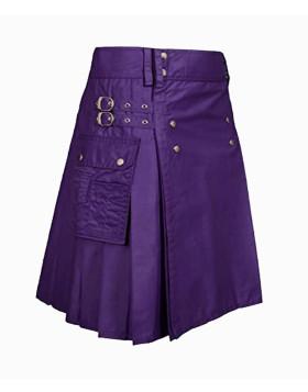 Purple Utility Kilt For Men And Women