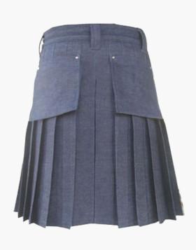 Scottish Deluxe Blue Denim Dress Kilt For Sale