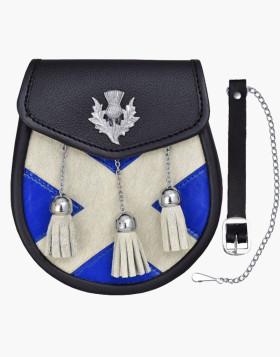 Scottish Flag Leather Sporran Kilts