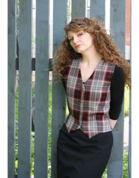 New Scottish Tartan Waistcoat For Women