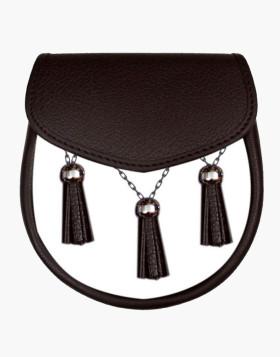 Traditional Black Leather sporran Kilt Sporran