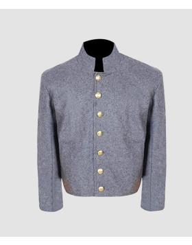 US Civil War Confederate Untrimmed Grey Wool Shell Jacket - Liberty Kilts