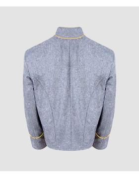 US Civil War CS Cavalry Yellow Pipping Trim Grey Wool Shell Jacket - Liberty Kilts